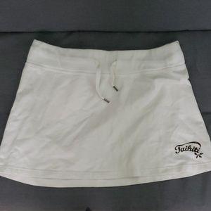 H&M White Mini Skirt